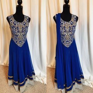 Dresses & Skirts - Royal Blue Indian Gown